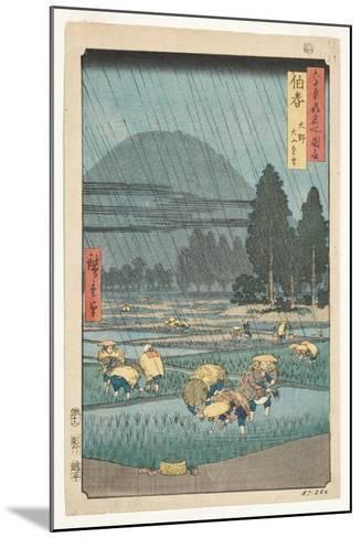 Hoki Province, Ono, Distant View of Mount Daisen, 1853-Utagawa Hiroshige-Mounted Giclee Print