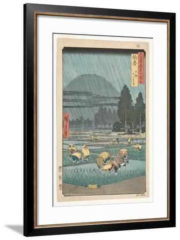Hoki Province, Ono, Distant View of Mount Daisen, 1853-Utagawa Hiroshige-Framed Art Print