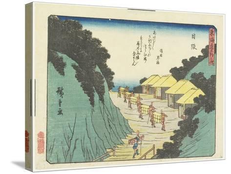 Nissaka, 1837-1844-Utagawa Hiroshige-Stretched Canvas Print