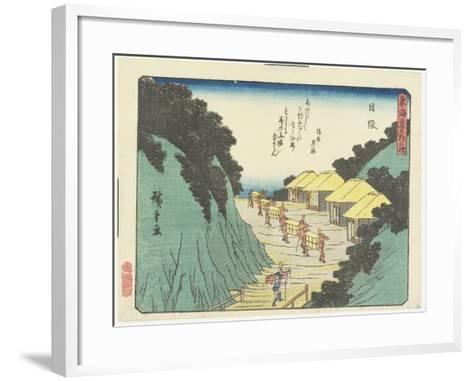 Nissaka, 1837-1844-Utagawa Hiroshige-Framed Art Print
