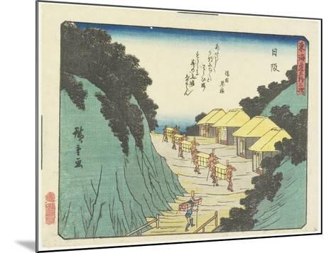 Nissaka, 1837-1844-Utagawa Hiroshige-Mounted Giclee Print