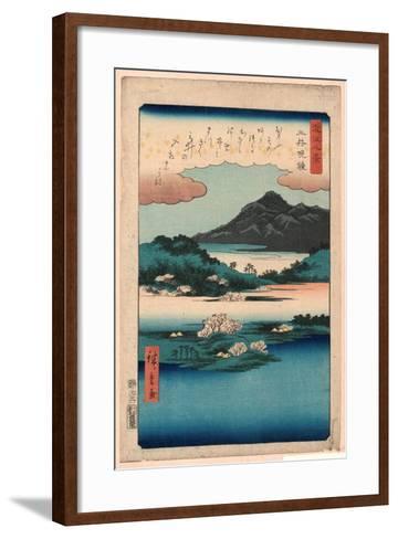 Mii No Bansho-Utagawa Hiroshige-Framed Art Print
