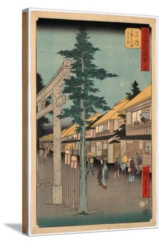 Mishima-Utagawa Hiroshige-Stretched Canvas Print