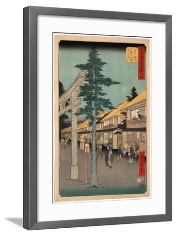 Mishima-Utagawa Hiroshige-Framed Art Print