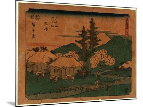 Mishima-Utagawa Hiroshige-Mounted Giclee Print