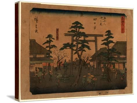 Yokkaichi-Utagawa Hiroshige-Stretched Canvas Print