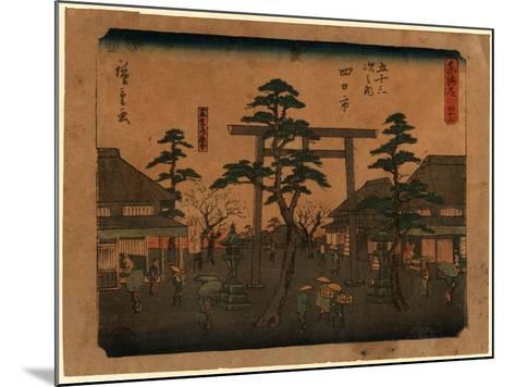 Yokkaichi-Utagawa Hiroshige-Mounted Giclee Print