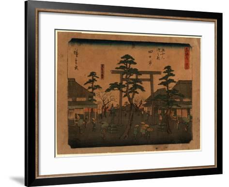 Yokkaichi-Utagawa Hiroshige-Framed Art Print