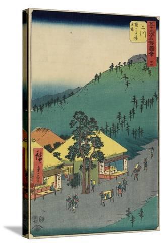 No.34 the Rest Area of Sarugababa, Futakawa, July 1855-Utagawa Hiroshige-Stretched Canvas Print