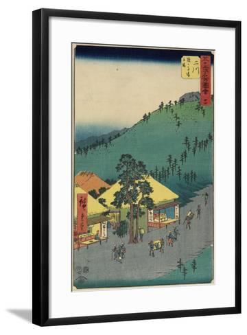 No.34 the Rest Area of Sarugababa, Futakawa, July 1855-Utagawa Hiroshige-Framed Art Print