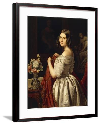 Young Woman at Her Toilette, 1840-Waldmuller Ferdinand Georg-Framed Art Print
