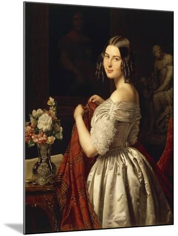 Young Woman at Her Toilette, 1840-Waldmuller Ferdinand Georg-Mounted Giclee Print
