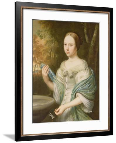 Portrait of a Lady, 1671-Wallerant Vaillant-Framed Art Print