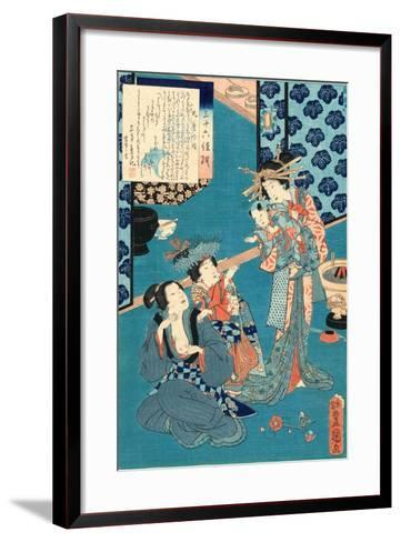 Kokonoe No Hanashi, Tale of the Courtesan Kokonoe. 1860., 1 Print : Woodcut, Color ; 36.8 X 24.9-Utagawa Toyokuni-Framed Art Print
