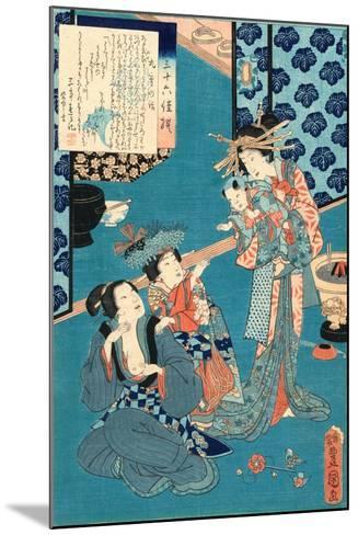 Kokonoe No Hanashi, Tale of the Courtesan Kokonoe. 1860., 1 Print : Woodcut, Color ; 36.8 X 24.9-Utagawa Toyokuni-Mounted Giclee Print