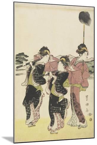 Oiran (High-Class Courtesan) Travelling as a Mitate of Daimyo Procession, 18th-19th Century-Utagawa Toyokuni-Mounted Giclee Print