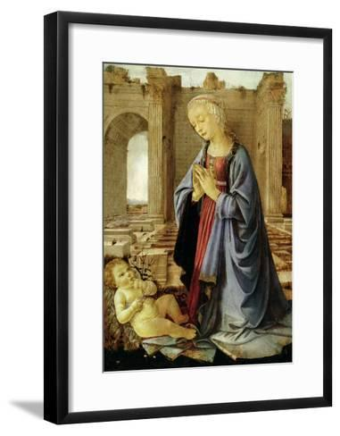 The Virgin Adoring the Christ Child (The Ruskin Madonna) C.1470-Verrocchio-Framed Art Print