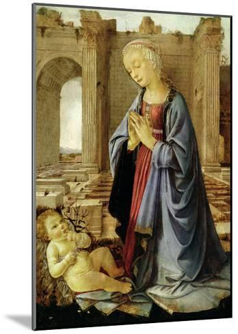 The Virgin Adoring the Christ Child (The Ruskin Madonna) C.1470-Verrocchio-Mounted Giclee Print