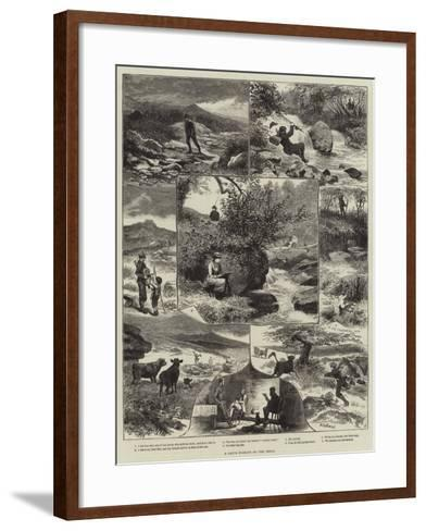 A Day's Fishing on the Teign-Walter Bothams-Framed Art Print