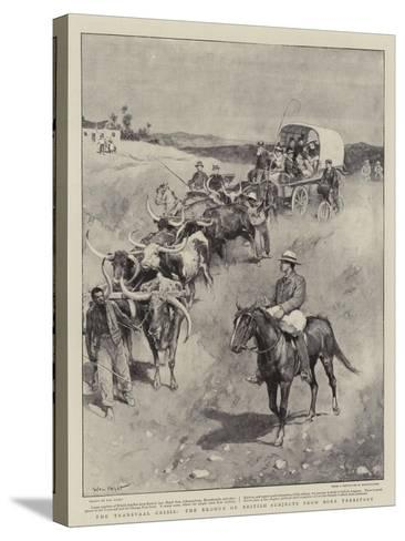 The Transvaal Crisis, the Exodus of British Subjects from Boer Territory-Walter Stanley Paget-Stretched Canvas Print