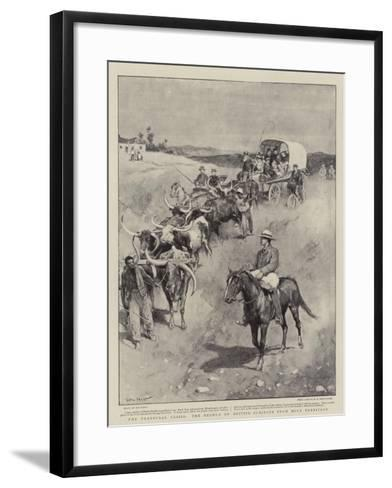 The Transvaal Crisis, the Exodus of British Subjects from Boer Territory-Walter Stanley Paget-Framed Art Print