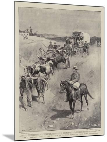 The Transvaal Crisis, the Exodus of British Subjects from Boer Territory-Walter Stanley Paget-Mounted Giclee Print