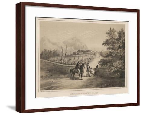 Longwood, from the Gate, St. Helena, 1855-Wilhelm Joseph Heine-Framed Art Print