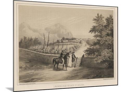 Longwood, from the Gate, St. Helena, 1855-Wilhelm Joseph Heine-Mounted Giclee Print