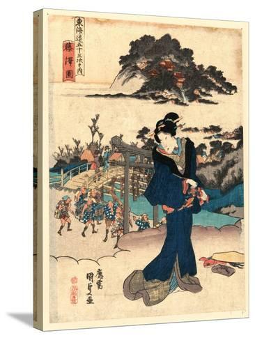 Fujisawa Zu-Utagawa Toyokuni-Stretched Canvas Print