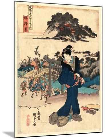Fujisawa Zu-Utagawa Toyokuni-Mounted Giclee Print