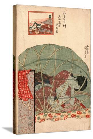 Ghyakurakan Segaki-Utagawa Toyokuni-Stretched Canvas Print