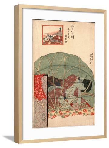 Ghyakurakan Segaki-Utagawa Toyokuni-Framed Art Print