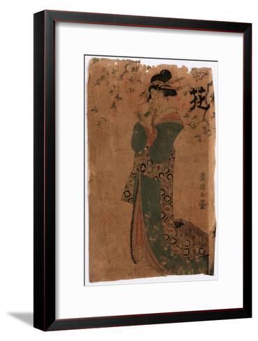 Hana-Utagawa Toyokuni-Framed Art Print