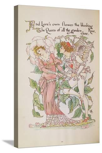 The Rose from 'Flora's Feast'-Walter Crane-Stretched Canvas Print