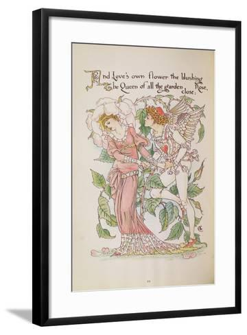 The Rose from 'Flora's Feast'-Walter Crane-Framed Art Print