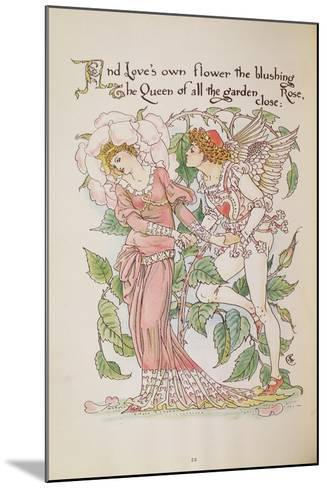 The Rose from 'Flora's Feast'-Walter Crane-Mounted Giclee Print