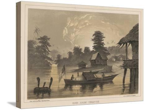 River Jurono, Singapore, 1855-Wilhelm Joseph Heine-Stretched Canvas Print