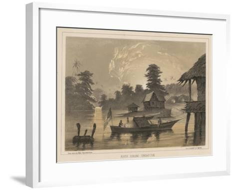 River Jurono, Singapore, 1855-Wilhelm Joseph Heine-Framed Art Print
