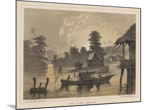River Jurono, Singapore, 1855-Wilhelm Joseph Heine-Mounted Giclee Print