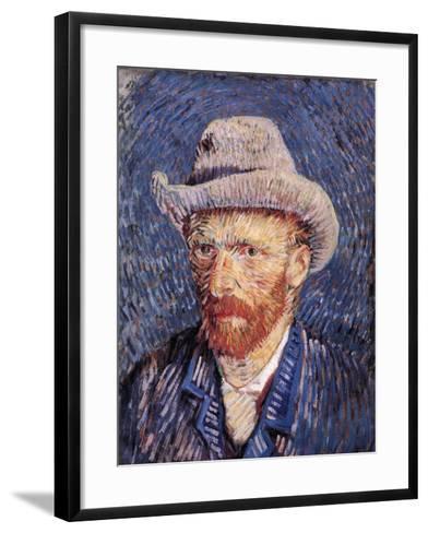 Self Portrait with Felt Hat, 1887-88-Vincent van Gogh-Framed Art Print