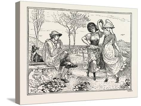 Pan Pipes-Walter Crane-Stretched Canvas Print