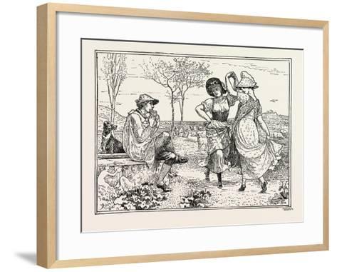 Pan Pipes-Walter Crane-Framed Art Print