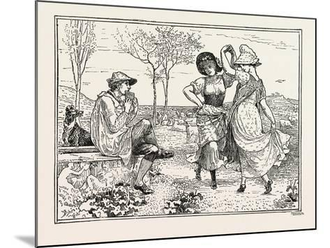 Pan Pipes-Walter Crane-Mounted Giclee Print