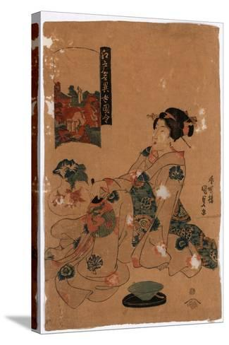 Kameido Tenjin-Utagawa Toyokuni-Stretched Canvas Print