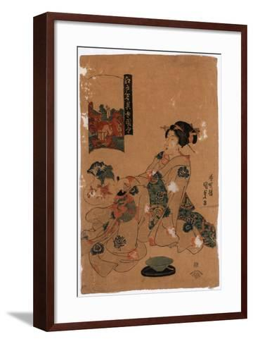 Kameido Tenjin-Utagawa Toyokuni-Framed Art Print