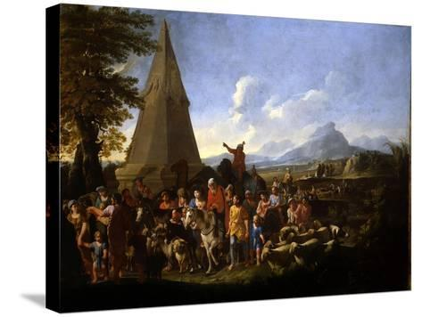 Jacob and His Family Entering Egypt-Willem Reuter-Stretched Canvas Print