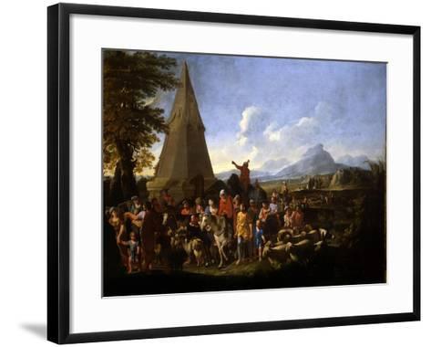 Jacob and His Family Entering Egypt-Willem Reuter-Framed Art Print