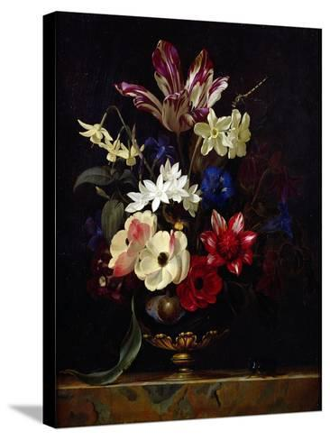 Still Life with Flowers-Willem van Aelst-Stretched Canvas Print