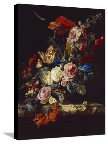 A Vase of Flowers, 1663-Willem van Aelst-Stretched Canvas Print