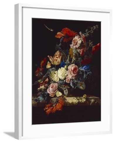 A Vase of Flowers, 1663-Willem van Aelst-Framed Art Print
